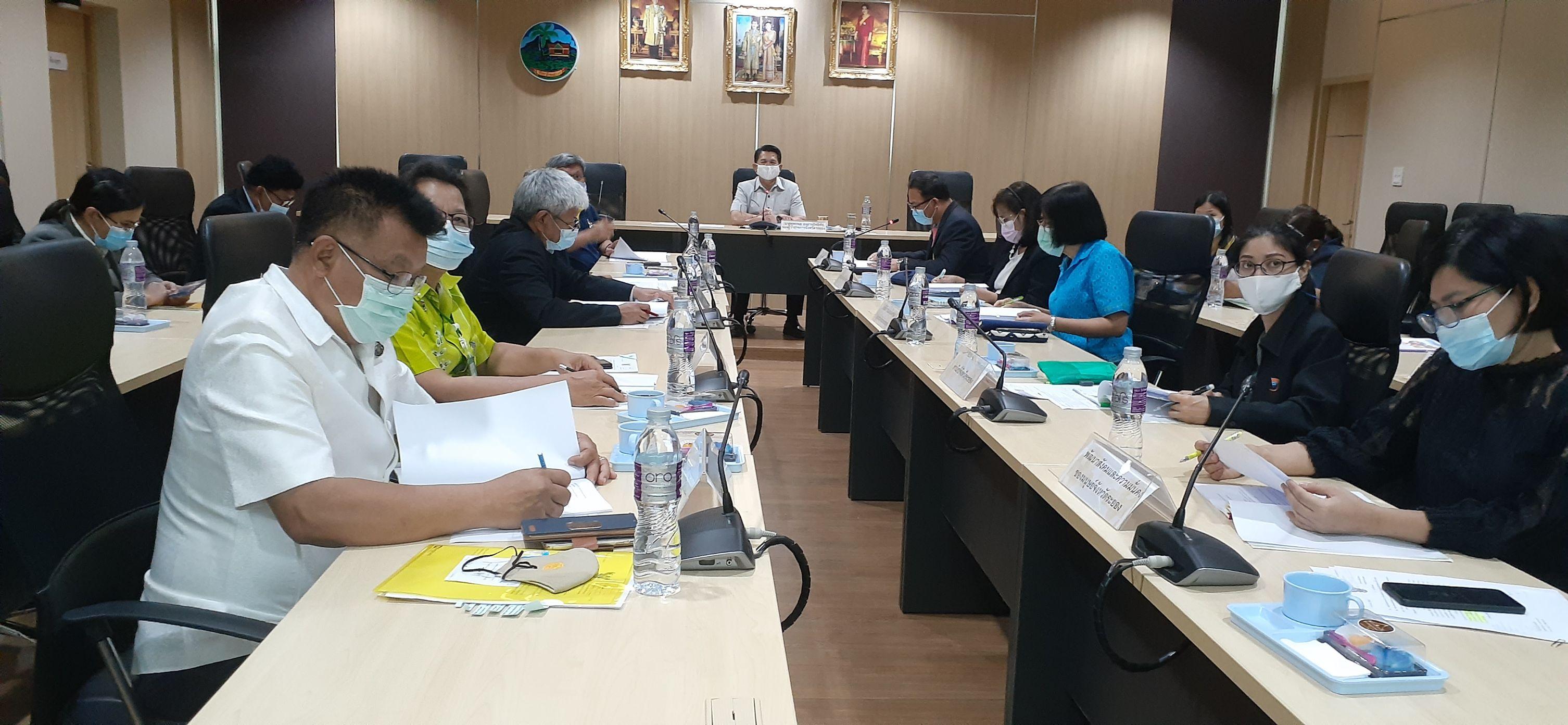 สำนักงานแรงงานจังหวัดระยอง จัดการประชุมคณะอนุกรรมการบริหารจัดการแรงงานนอกระบบ จังหวัดระยอง ครั้งที่ 1/2564