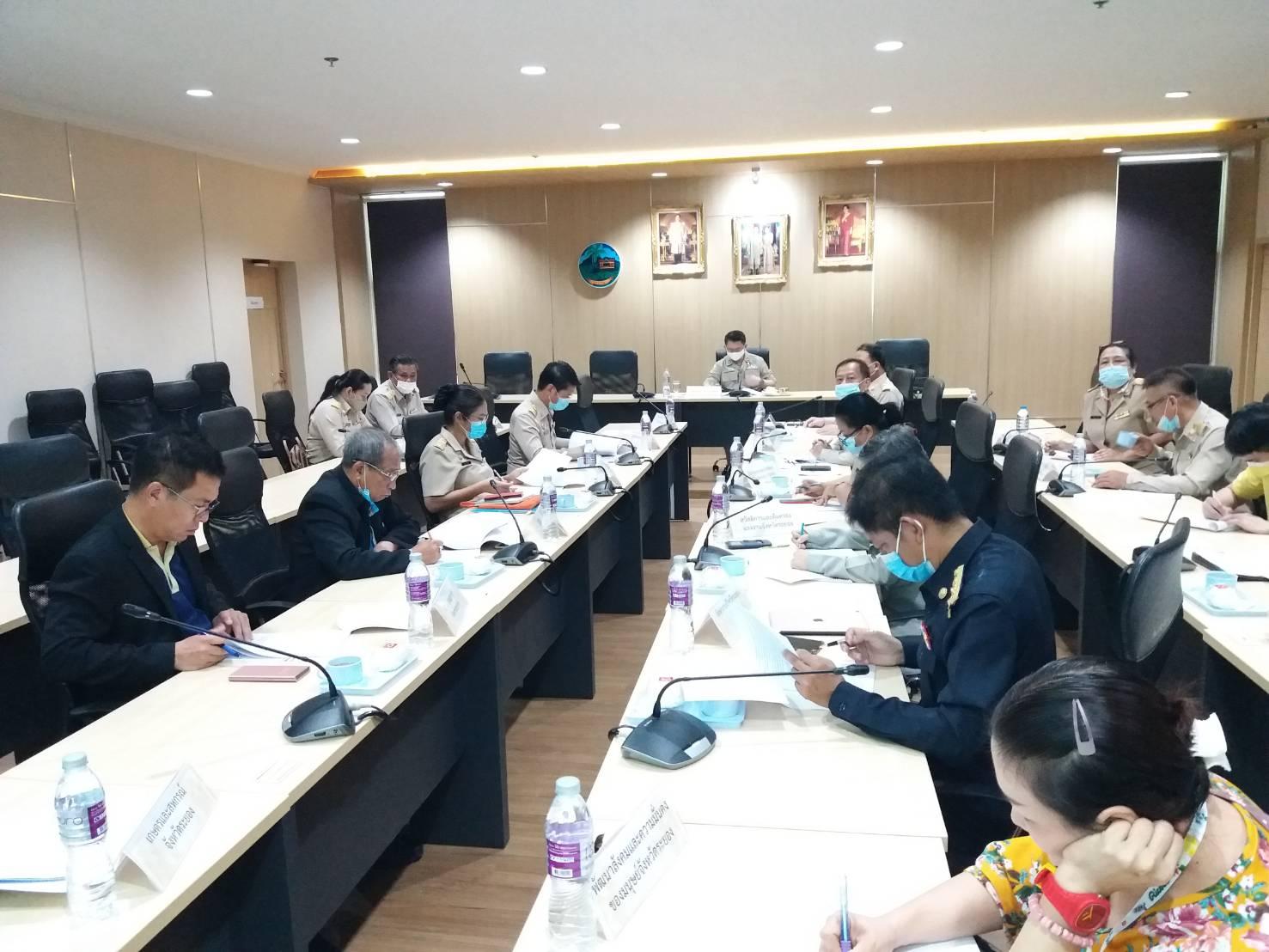 สำนักงานแรงงานจังหวัดระยอง จัดการประชุมคณะทำงานจัดทำแผนปฏิบัติการด้านแรงงานจังหวัดระยอง (พ.ศ. 2563-2565) ครั้งที่ 1/2564